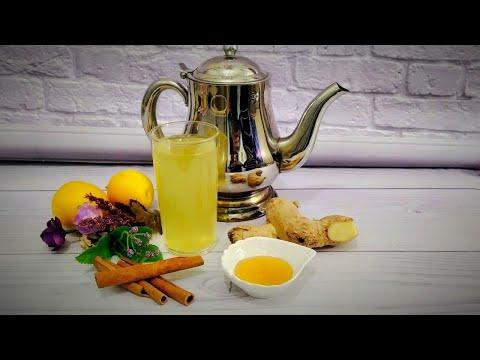 Правильный имбирный чай при простуде с лимоном и апельсином Ginger tea