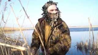 Смотреть онлайн Весенняя охота на селезня дикой утки с подсадной