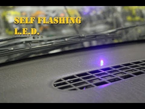 How to install flashing LED car alarm simulator (fake car alarm) Phony alarm