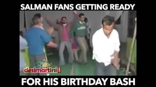 Salman Fans Getting Ready For His Birthday Bash