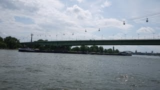 preview picture of video 'Rhine River and Cable Car, Cologne, Germany'
