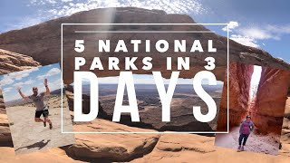 Utah's 5 National Parks in 3 Days Road Trip