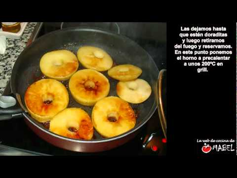 Chuletas de cerdo con manzana y queso de cabra - La web de cocina de Mabel