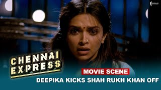 Deepika Kicks Shah Rukh Khan off | Movie Scene | Chennai Express |  A Film By Rohit Shetty