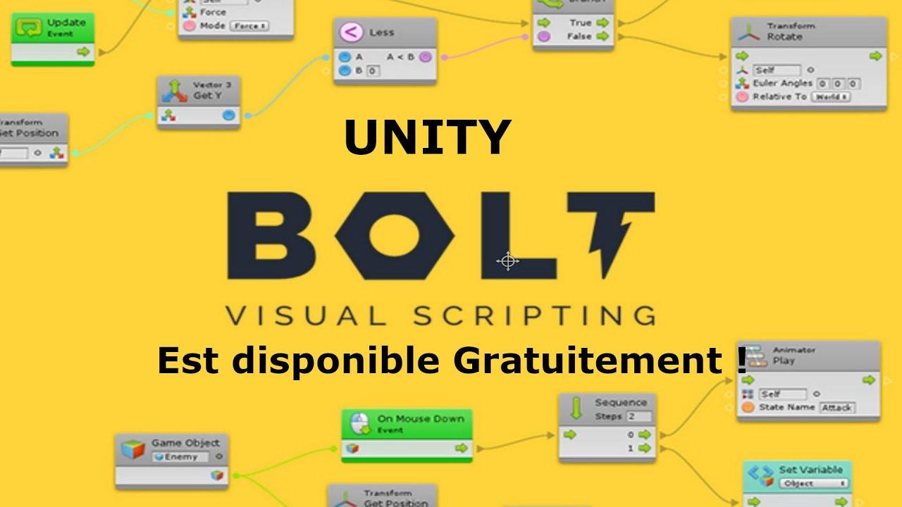 Unity Visual Script avec Bolt Tuto 1