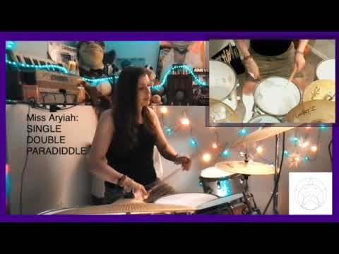 Single Stroke Roll, Double Stroke Roll, and Paradiddle played by Miss Aryiah