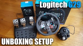 Logitech G29 steering wheel for a PS3/PS4/PC - Unboxing and Setup