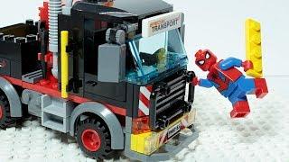 Lego SPIDER MAN Brick Building TRUCK Superhero Animation