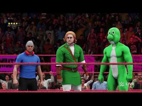 WWE 2K18 - DashieXP, Yoshi, and Link vs. Donkey Kong, Barney, and Jason