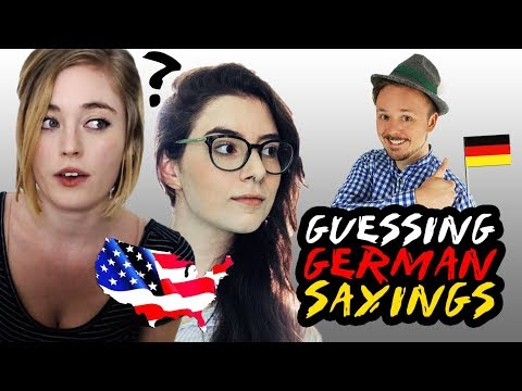 2 American Girls Guess Common But Weird German Sayings | Get Germanized