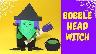 How To Make A Bobble Head Witch | Halloween Crafts For Kids