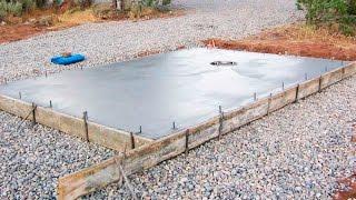 How to Pour Concrete Slabs