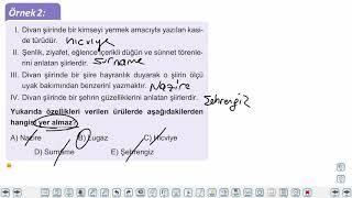 Eğitim Vadisi 10.Sınıf TDE 11.Föy Divan Edebiyatı Şiiri 2 Konu Anlatım Videoları