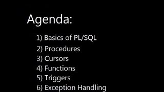 Learning PL/SQL programming