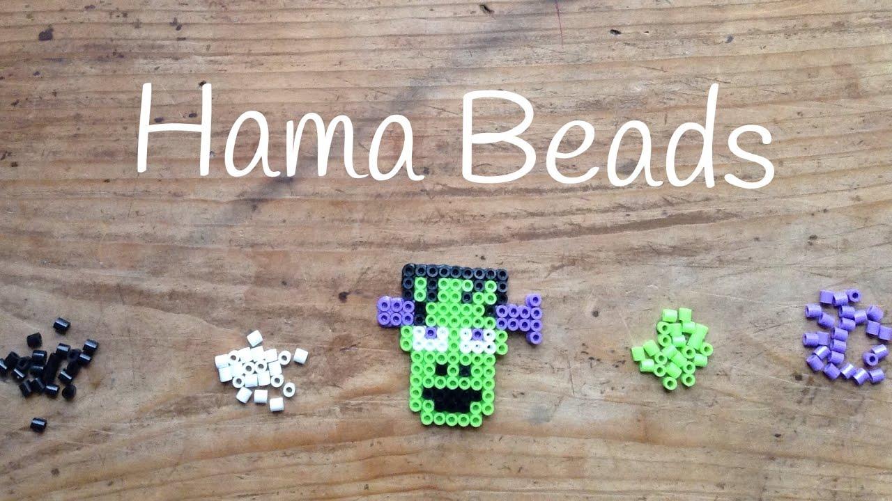 Frankenstein con hama beads para Halloween