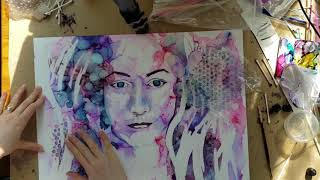 How To Paint A Portrait In ALCOHOL INK