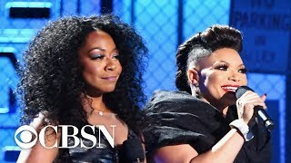 Soul Train Music Awards co-hosts Tichina Arnold & Tisha Campbell