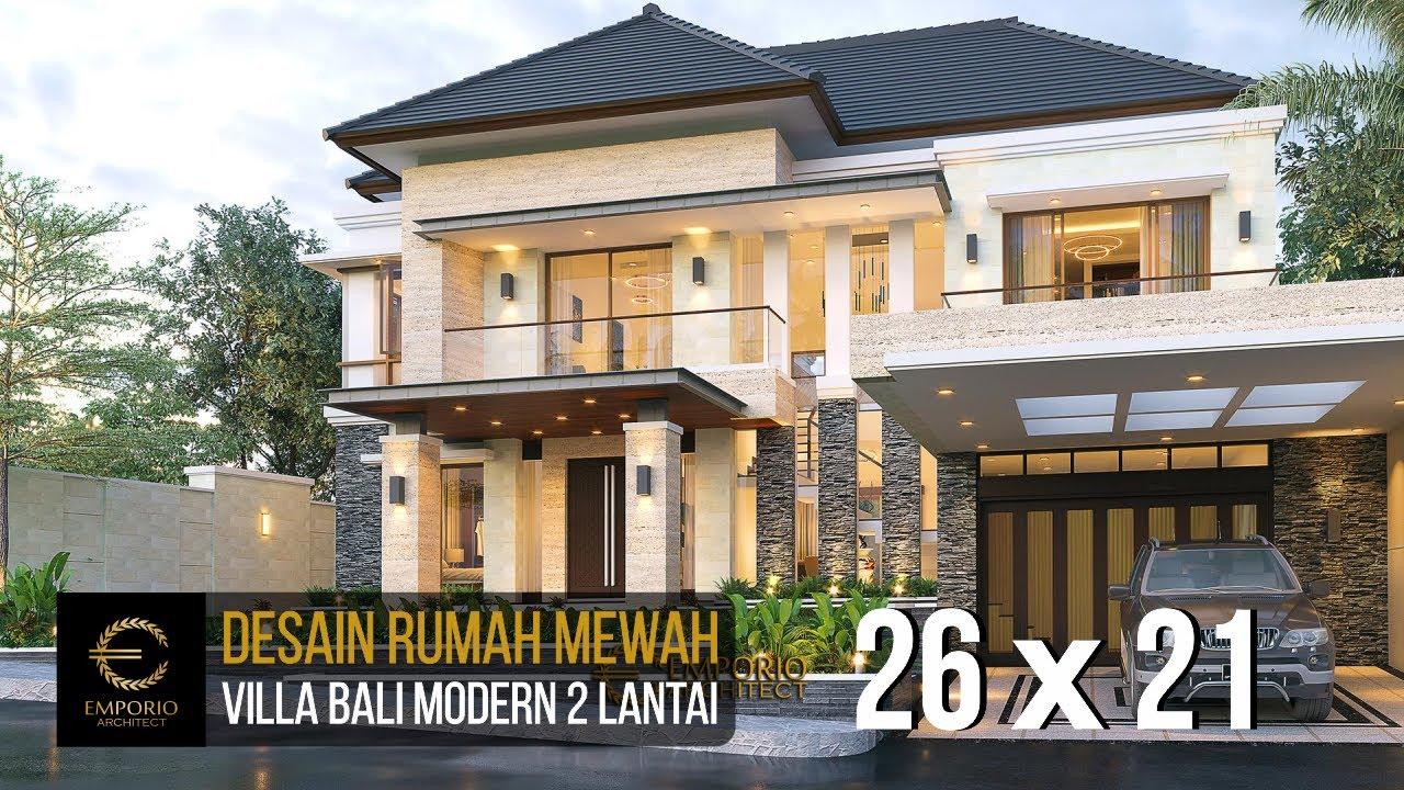 Video 3D Mrs. Yuyun Villa Bali Modern House 2 Floors Design - Nusa Tenggara Timur