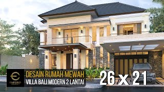 Video Desain Rumah Villa Bali Modern 2 Lantai Ibu Yuyun di  Nusa Tenggara Timur