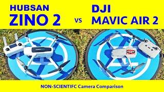 4K 60fps Camera Comparison - Hubsan ZINO 2 vs DJI Mavic Air 2 - Non-scientific comparison