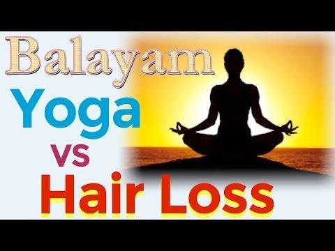 Hair regrowth and Stop Hair Loss Natural Yoga Method - How to Do Balayam/Indian Nail Rubbing