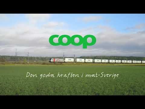 Varje dag rullar Coop-tågen genom Sverige