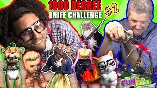 GLOWING 1000 DEGREE KNIFE PRANK ...TOYS FANTASTIC GYMNASTICS!!