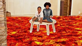 THE FLOOR IS LAVA PT 2! - Hidden Fidget Spinner! - Shasha and Shiloh Onyx Kids