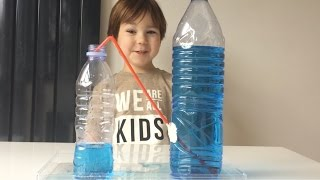 Experiment With Water And Plastic Bottles For Children