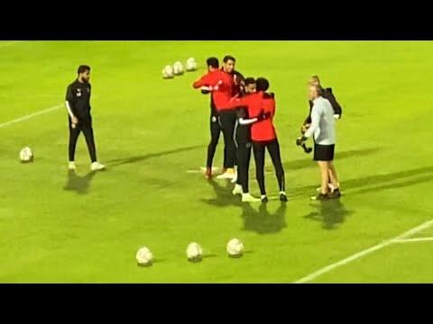 منعاً للتعصب.. الشناوي يتوجه لمصافحة شريف إكرامي قبل انطلاق مباراة الأهلي وبيراميدز