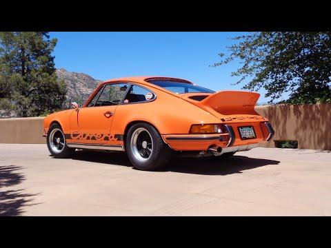 PORSCHE 911 RS TOURING 1973 - Voiture sport jaune et noire - 1/18 NOREV 187638