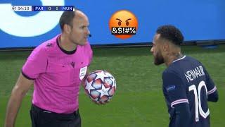 Players Vs Referees Crazy Moments Ft. Neymar Messi Ronaldo