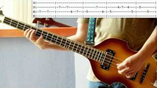 Beatles Thank You Girl bass lesson & cover with tabs