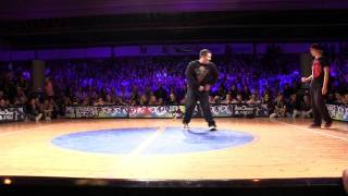 Streetstar 2012 Popping Final - Juste Debout Prelims - Greenteck & Devious vs Baby Bang & Spazm [HD]
