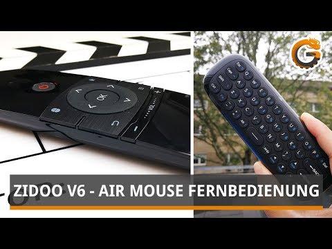 Zidoo V6 Air Mouse Review: Fernbedienung mit Keyboard [TOP O. FLOP?]  / DEUTSCH   China-Gadgets