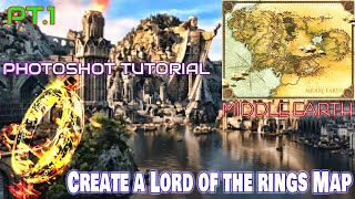 Photoshop Tutorial - Create a Lord of the Rings Style Map - Graphic Design CS6 Part 1