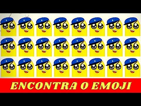 Encontra emoji - Qual  o emoji diferente!!