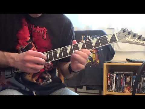 Manowar -  Army of the immortals (Guitar cover)