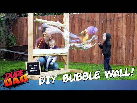 How to Build DIY Bubble Wall | Dad On