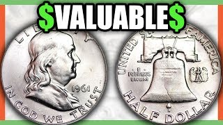 FRANKLIN HALF DOLLARS WORTH MONEY - VALUABLE SILVER COINS TO LOOK FOR