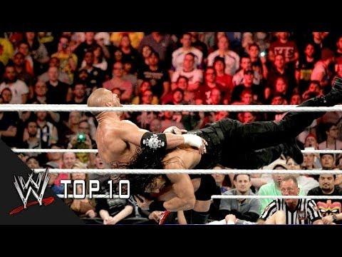 Roman Reigns' Greatest Spears - WWE Top 10