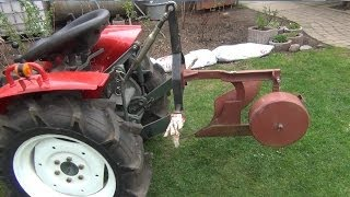 Yanmar 1510D - Vorbereitung Pflügen / Preparation to plow (HD)