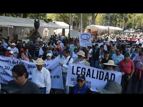 La primera marcha contra AMLO, presidente de México