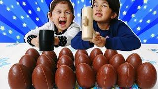 ●普段遊び●完結!ハンマーで叩き割れ!チョコエッグ ディズニーキャラクター8♡まーちゃん【5歳】おーちゃん【3歳】