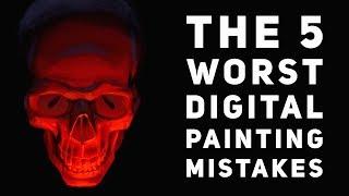 Top 5 Worst Mistakes Beginers Make Digital Painting