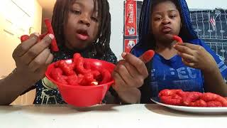 Hot Cheetos and Takis challenge  with Aisha Nation