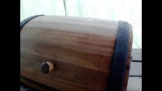 Делаем хлебницу водовозка из вяза и сосны. Часть 1.