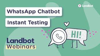 Create WhatsApp Bot & Test it Instantly (No Coding)   Landbot Playground