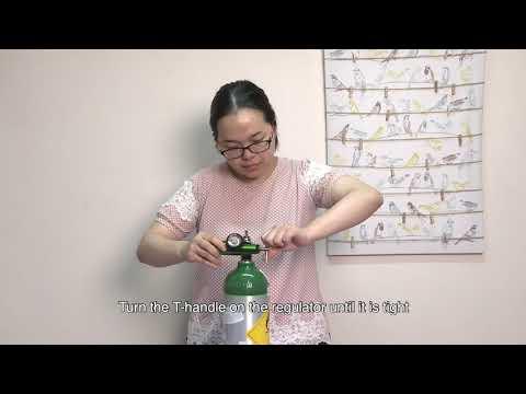 影片:Use of portable oxygen cylinder and the regulator