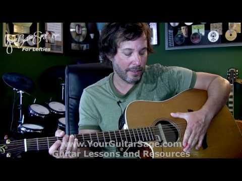 1st Lefty Beginner Guitar Lesson, Left & Right Hand Technique